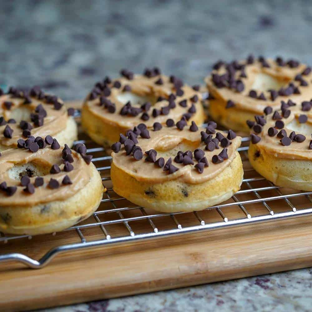 Chocolate Chip Cookie Butter Frosted Donuts
